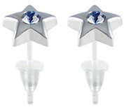 Hypoallergenic plastic post star stud earrings - you get 3 pair each colour