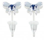 Hypoallergenic plastic post butterfly stud earrings - you get 3 pair each colour
