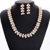 HongHu Wedding Round Pave CZ Star Inspired Jewellery Set Necklace Earring