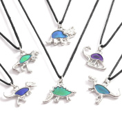 Boy's and Girl's dinasaur necklace - Colour changing mood necklaces
