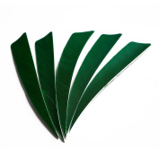IRQ Natural Feather Fletching 10cm Turkey Feathers For Arrow Fletches Vanes Left Wing Hunting Target Shooting 36pcs