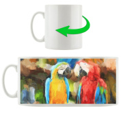 Parrot Group, Scene cup in white ceramic 300ml, Great gift idea for any occasion. Your new favourite mug for coffee, tea and hot drinks.