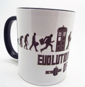 Evolution of Dr who 330ml Ceramic Mug The doctor