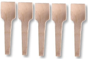 100 Wooden Ice Cream Spoon 9.4cm Birch Wood Spade Disposable Cutlery Utensil Biodegradable Party Dessert Summer Tester