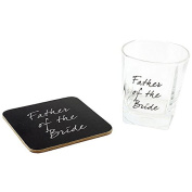 Father Of The Bride Wedding Gift - Whisky Glass and Coaster In Gift Box