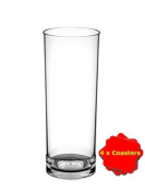 Set of 6 Pimms Glasses made from unbreakable polycarbonate plastic. Ideal for outdoor use, bbqs, boats, camping, glamping etc. Capacity 310ml. Dishwasher safe