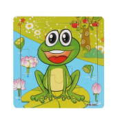 Bath Toys, Xinantime Frog Wooden Jigsaw Education And Learning Puzzles Toys