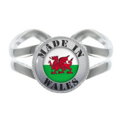 Made In Wales Silver Plated Adjustable Ring in Gift Box
