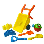 Kids Beach Wheelbarrow Toy Set Sandpit Play Random Colour