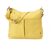 OiOi Two Pocket Leather Lemon Curry Hobo Baby Changing Bag