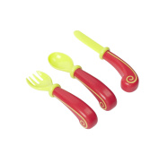 Badabulle B005406 Ergonomic Cutlery Set Red