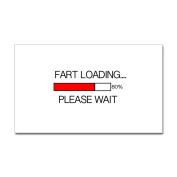 CafePress Fart Loading Please Wait Sticker Sticker Rectangle - 3x5 White