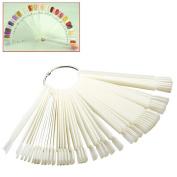 Mofun® Nail Art Tips Colour Pop Sticks Display Fan Practise starter ring White