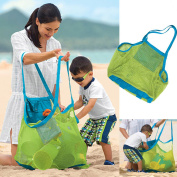 J.J Store® Extra Large Sand-away Carrying Bag Beach Toys Swimming Pool Mesh Bag Tote For Kids Sand Box Castle Clothes Beach Balls Towel