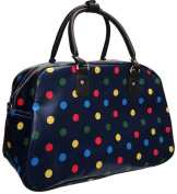 Oilcloth Holdall Weekend Overnight Bag Hand Luggage Cabin Bag 25L- Polka Dot Spot / Butterfly / Flower