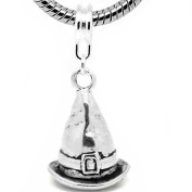 "SEXY SPARKLES Women's "" Witch Hat Charm "" Dangle Bead Charm"