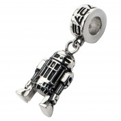 Official Stainless Steel R2-D2 Dangle Drop Bracelet Charm