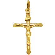 9ct Gold Crucifix Cross Pendant Necklace With Gift Box