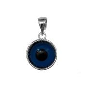 Sterling Silver Greek Meandros Evil Eye