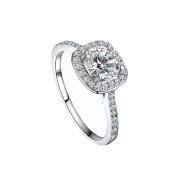 Koly® Shinning Zircon Big Square Finger Wedding Engagement Rings