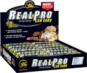 All Stars Realpro Bar Peanut Low Carb Protein Bar 50g Pack of 24