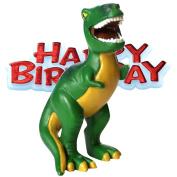 Happy Birthday Dinosaur Cake Topper Figurine Washable & Reusable 8cm