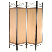 Marko Homewares Room Divider Screen Privacy 4 Panel Wall Movable Partition Folding Separator