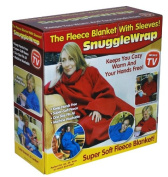 Adult Snuggle Wrap Blanket with Sleeves RED