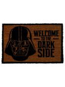"""Star Wars """"Darth Vader Welcome to the Darkside"""" Door Mat, Brown"""