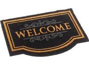 Large Door Mat Natural Or Black Coir Welcome Floor Entrance Indoor Outdoor Front Doormat