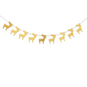 Raylinedo® 1X Gold Garland For Wedding Birthday Anniversary Party Christmas Girls Room Decoration Deer Shape