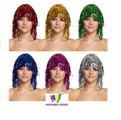 Pack Of 5 Tinsel Wigs For Parties - Hen Nights - Party Bag Toys