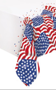 Plastic US American Flag Tablecloth, 2.1m x 1.4m