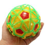 Tourwin 2pcs LED Light Jumping Ball Crazy Music Football Children's Funny Toy Gift Colour Random