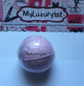 Pink Rose Petals Scented Golf Ball Sized Bath Bomb Fizzie MyLuxury1st 45ml