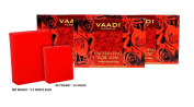 Red Rose Petals Soap (DOUBLE SIZE) - Handmade Herbal Soap (Aromatherapy) with 100% Pure Essential Oil - ALL Natural - Anti-pigmentation Therapy - Each 160ml - Pack of 3 (0.5kg) - Vaadi Herbals