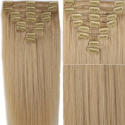 My Lady 50cm Thick Double Weft 8 Pcs 18 clips in Remy Human Hair Extensions Ash Blonde