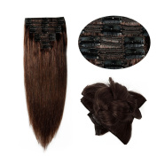 Double Weft 100% Remy Human Hair Clip in Extensions 36cm - 60cm Grade 7A Quality Full Head Thick Long Soft Silky Straight 8pcs 18clips for Women Fashion