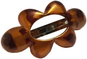 Parcelona French Cloud Golden Touch Tortoise Shell Strong Grip Celluloid Automatic Hair Clip Hair Barrette