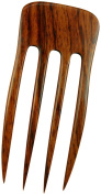 JWL (1) Laotian Rosewood Four Prong 15cm Straight Hair Stick Pick Pic Pin Fork -Functional Prong Length (FPL) 12cm Hawaiian Style