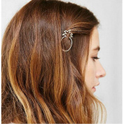 Joyci 1Pcs Dainty Pineapple Geometric Metal Hairpin Women's Side Clip Clamps
