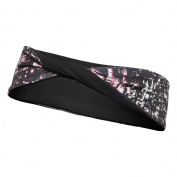 ASICS RN2867 Womens Lite-Show Twisted Headband, Static Print - OS