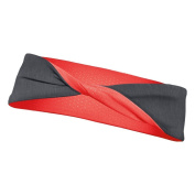 ASICS RN3055 Womens Twisted Headband, Steel Heather - OS