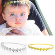 FEITONG(TM) New Baby Girl Bridal Princess Headband Star Elastic Hair Band