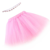 FEITONG(TM) Infant Baby Multilayer Gauze Bubble Tutu Skirt+ Crystal Elastic Headband