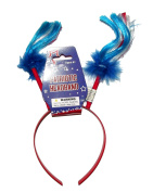 Patriotic Feathers and Pigtails Headband