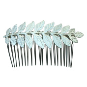 Rarelove Silver Colour Leaf Hair Comb Clip Bridal Accessory For Wedding Occasions