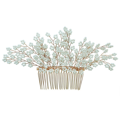 Rarelove Bridal Multi Beads Flower Hair Comb Clip Wedding Accessory For Women Occasions