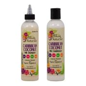 "Alikay Naturals Caribbean Coconut Milk Shampoo & Conditioner 240ml ""Set"""