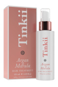 Argan and Marula Oil Hair Treatment By Tinkii 4.23oz/125ml - Salon Quality Leave-in Hair Serum that Protects, De-frizzes, Nourishes and Conditions, Sulphate-free